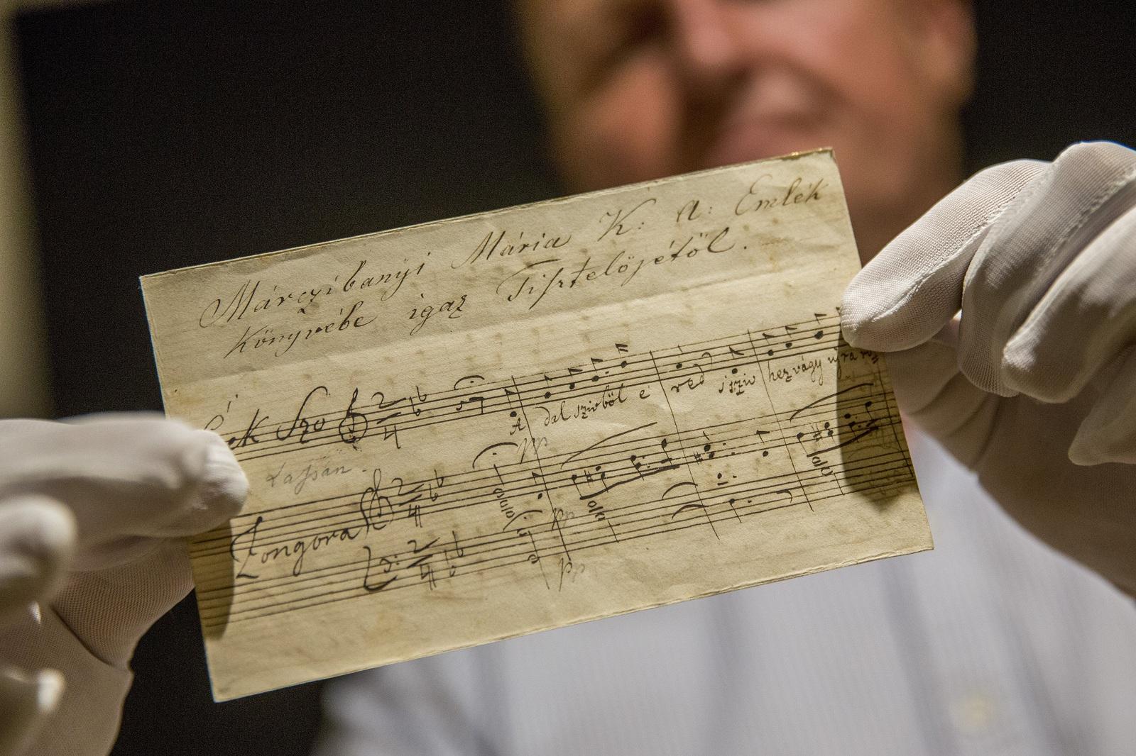 Erkel-kézirat került a gyulai Erkel Ferenc Múzeum tulajdonába