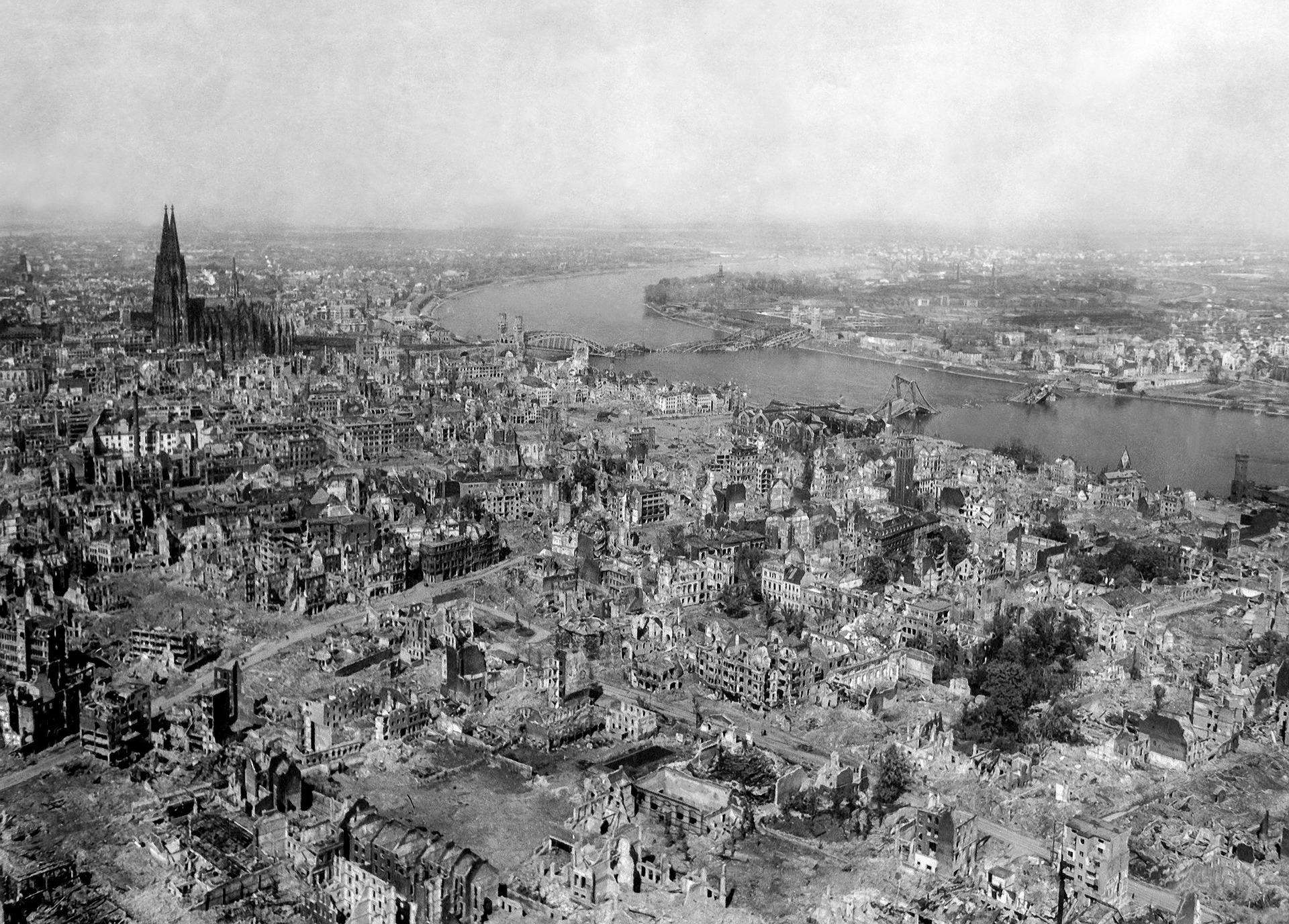 A második világháborúban ledobott bombák átmenetileg felmelegítették az atmoszférát