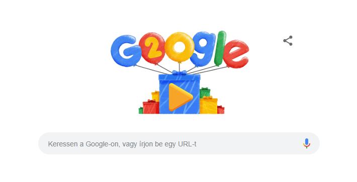 20 éves a Google!