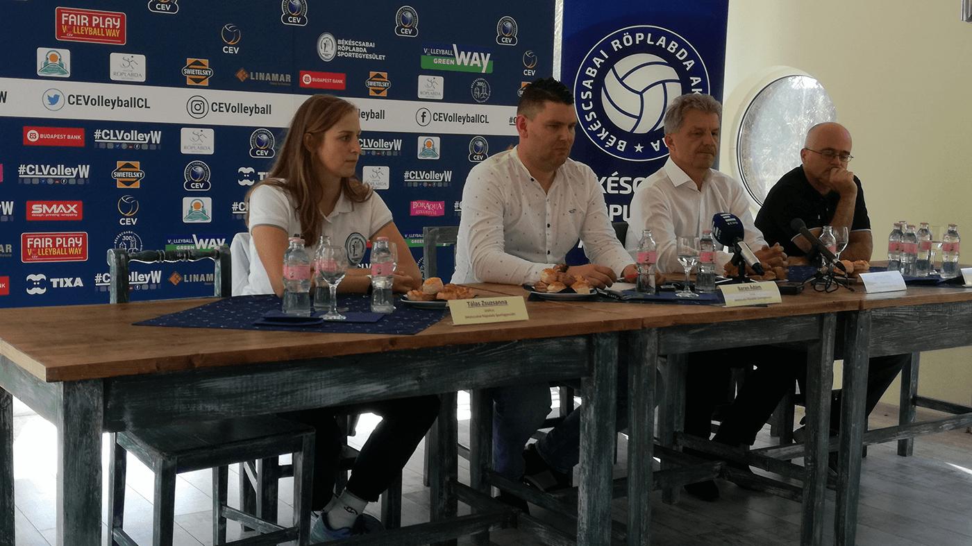 Megtartotta szezonnyitó sajtótájékoztatóját a Békéscsabai Röplabda SE