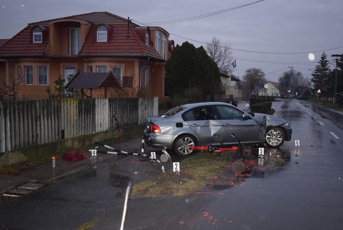 Öt közlekedési baleset történt Békés megyében tegnap