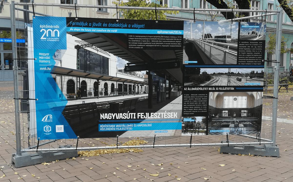 Építőmérnökök 200 – plakátkiállítás Békéscsabán