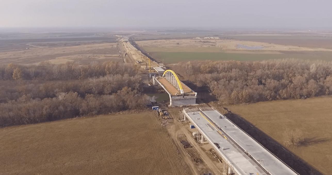 Íme az épülő, új Körös-híd madártávlatból