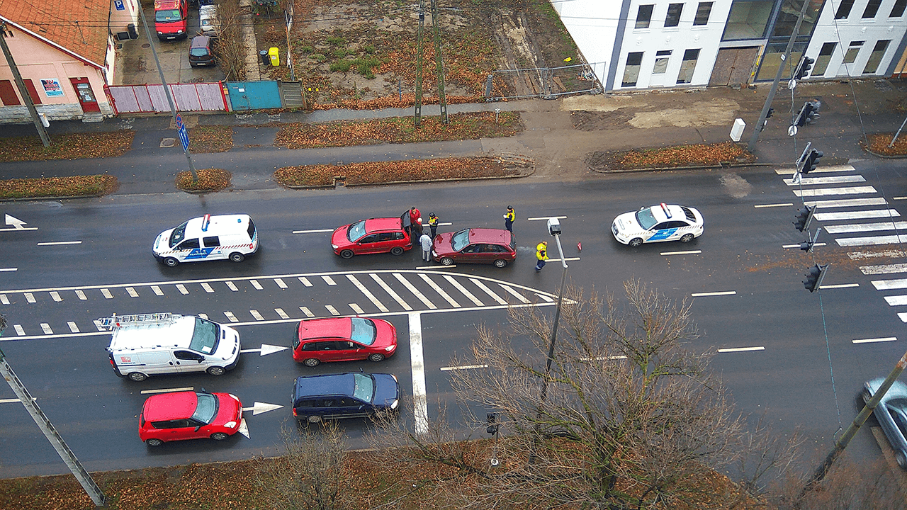 Koccanásos baleset történt Békéscsabán