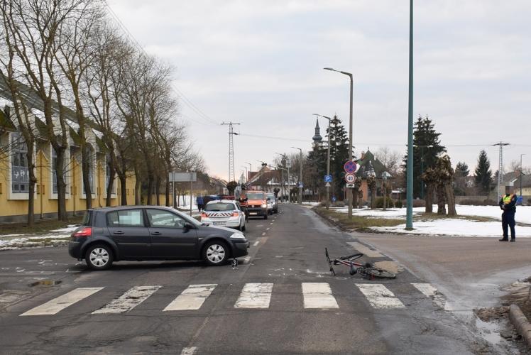 Négy közlekedési balesetben öten sérültek meg tegnap