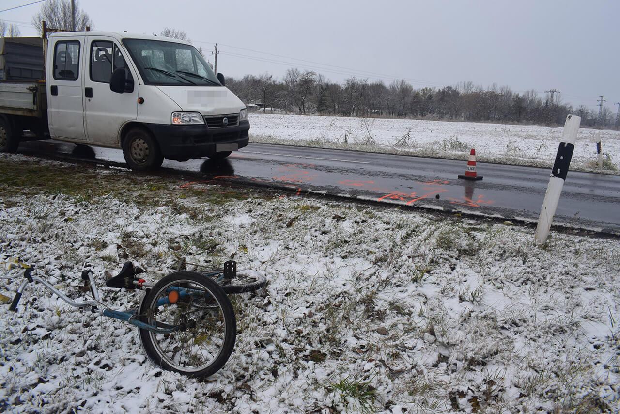 Kisteherautó ütött el egy kerékpárost Orosháza külterületén, a rendőrség az ügy vizsgálatát befejezte