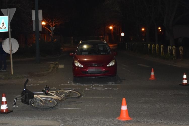 Kerékpárossal ütközött egy személygépkocsi Gyulán