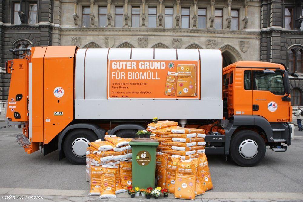Guter Grund: zöld hulladékból készül virágföld Bécsben