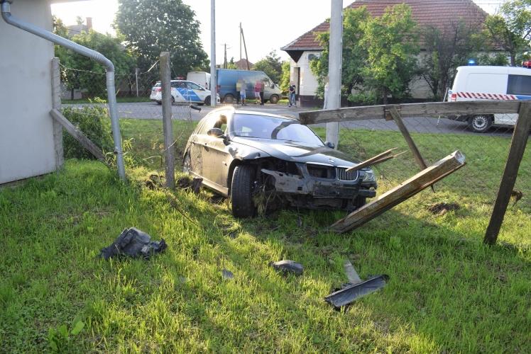 Békésen balesetnél helyszíneltek tegnap a rendőrök