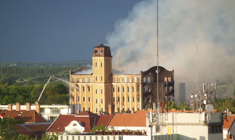 István malom, Békéscsaba, tűz