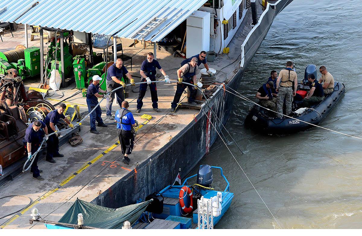 Dunai hajóbaleset – Vízügy: intenzíven apad a folyó a fővárosban