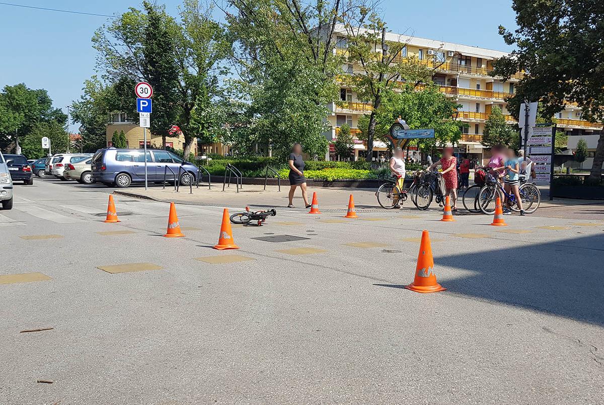 Személyautó ütött el egy kerékpárral közlekedő gyermeket Békéscsabán