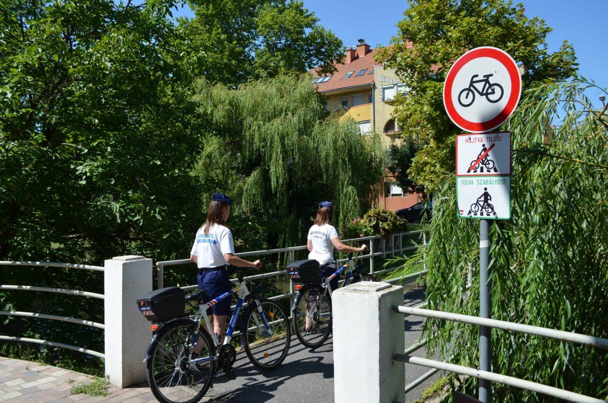 Idén nyáron is működik kerékpáros rendőrjárőr-szolgálat Békéscsabán