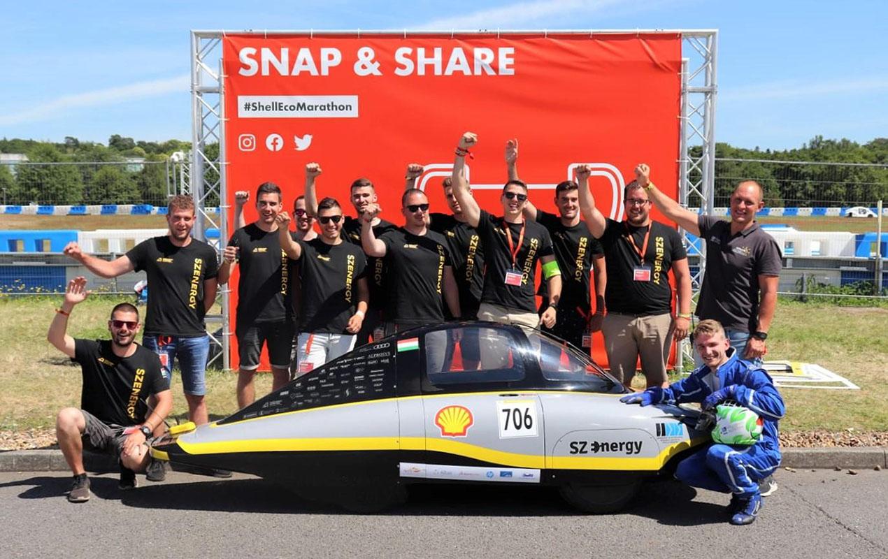 Izgalmakkal teli Shell Eco-marathon versenyt tudhatnak maguk mögött a magyar diákok