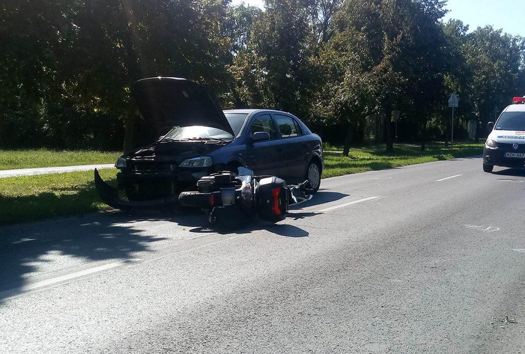motor baleset