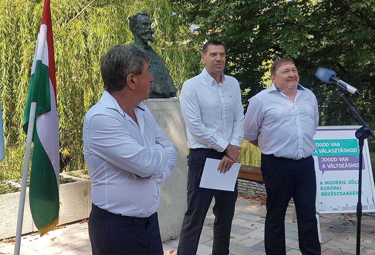 Miklós Attila az MSZP, az LMP és a liberálisok csabai polgármesterjelöltje