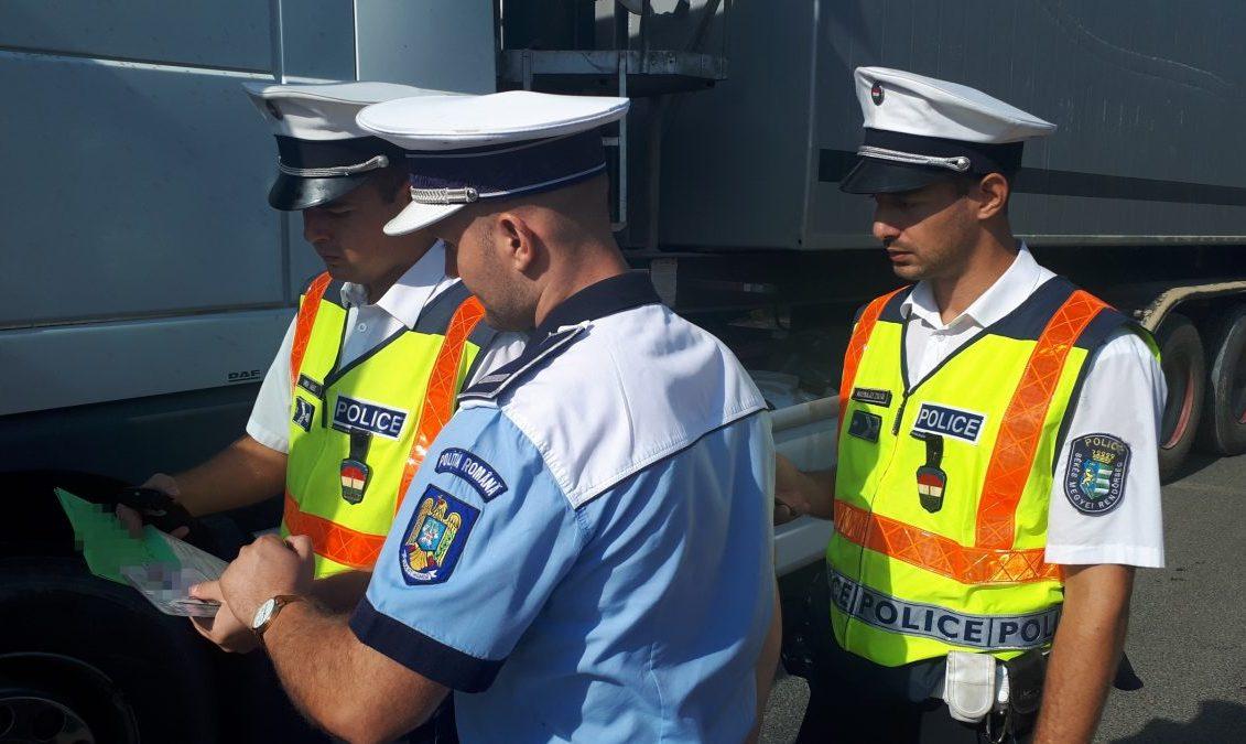 Közös járőrszolgálatot látnak el aradi és békéscsabai rendőrök