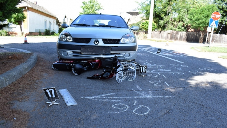 Három közlekedési baleset történt tegnap a megyében