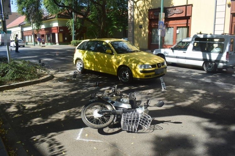 Öt baleset miatt helyszíneltek tegnap a rendőrök