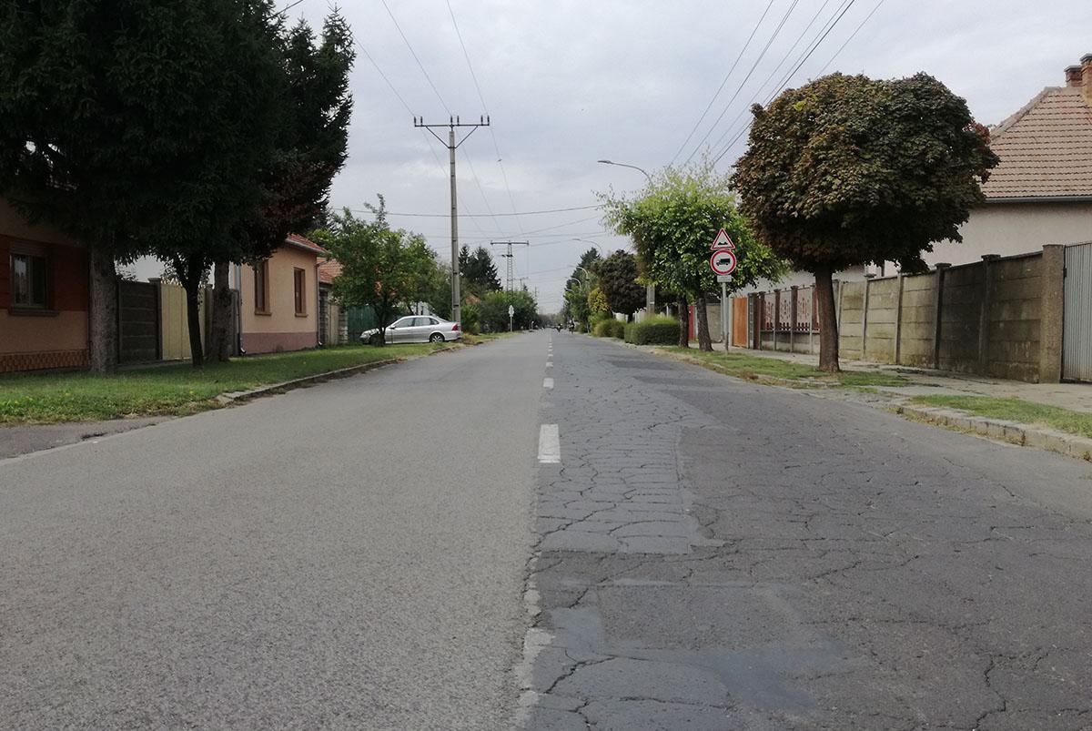 Felújításra kerül a Franklin utca aszfalt burkolata