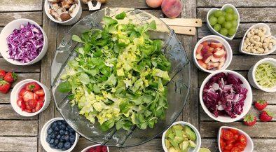 saláta, vega, vegán, étel, hideg