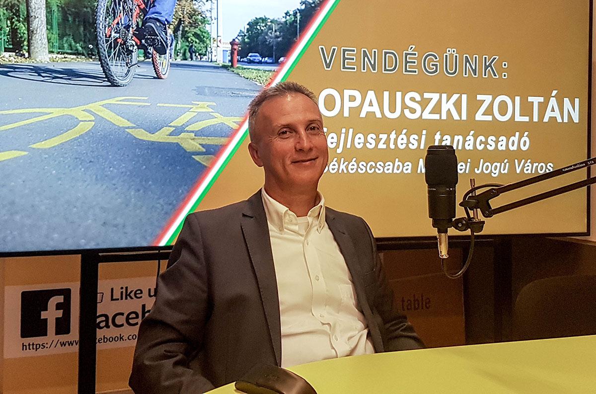 Opauszki Zoltán: fontos a kerékpárutak fejlesztése