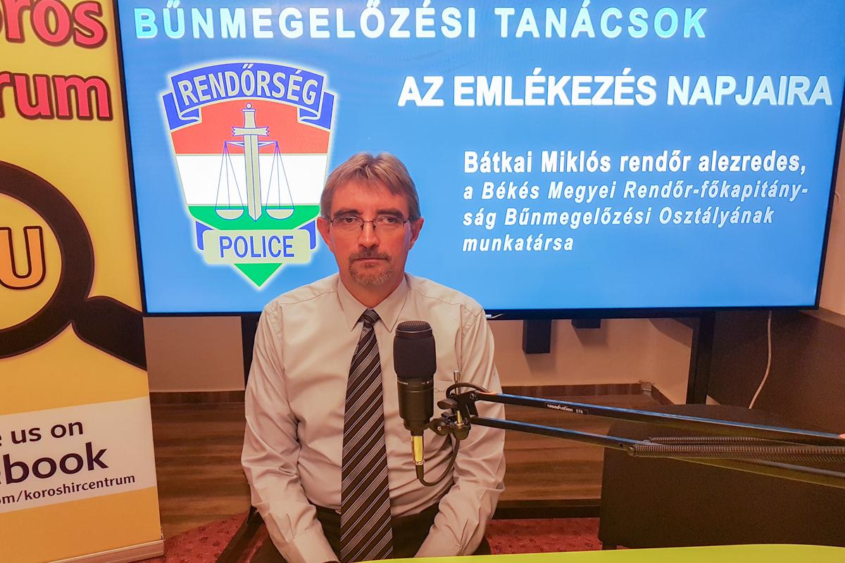 Bátkai Miklós: Előzzük meg a bűncselekményeket a kegyeleti időszakban is