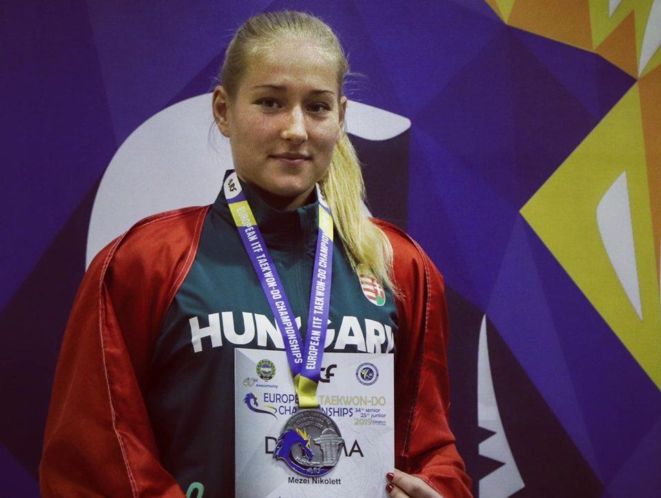 Taekwon-do: Mezei Nikolett ezüstérmes az Európa-bajnokságon