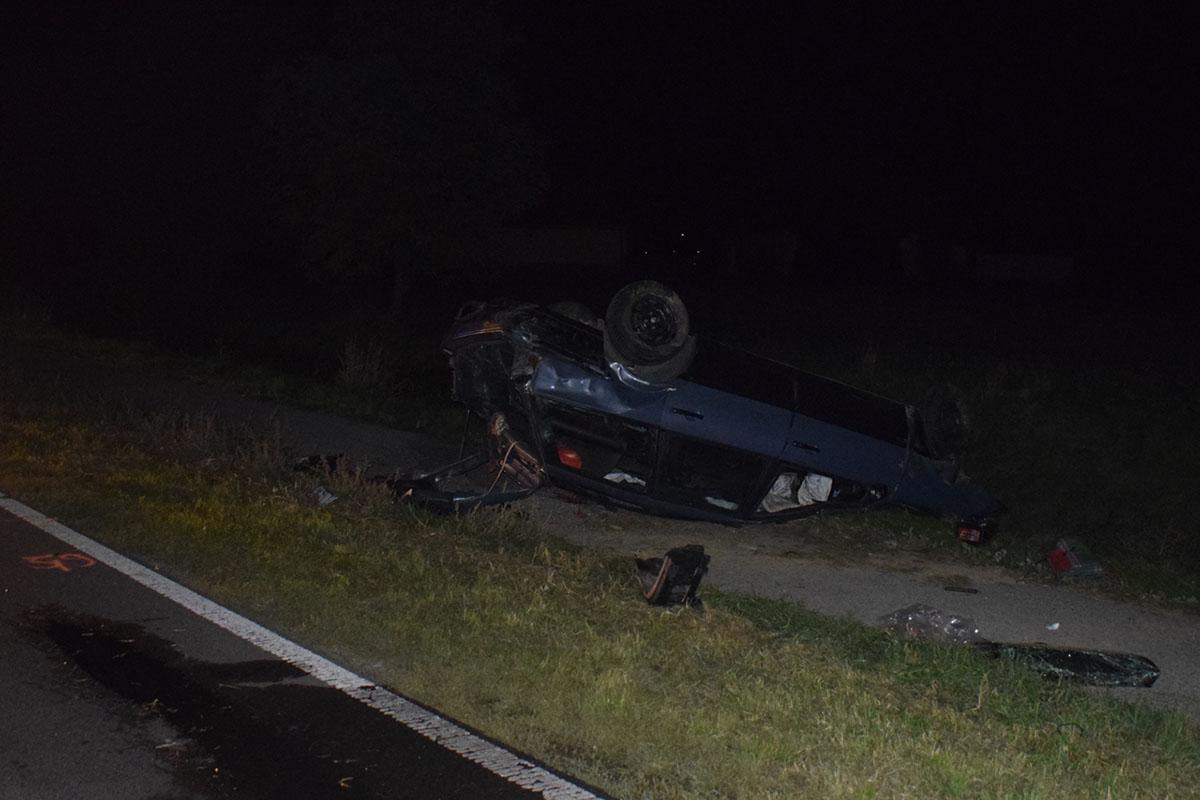 Felborult egy autó a 44-esen Kétsopronynál