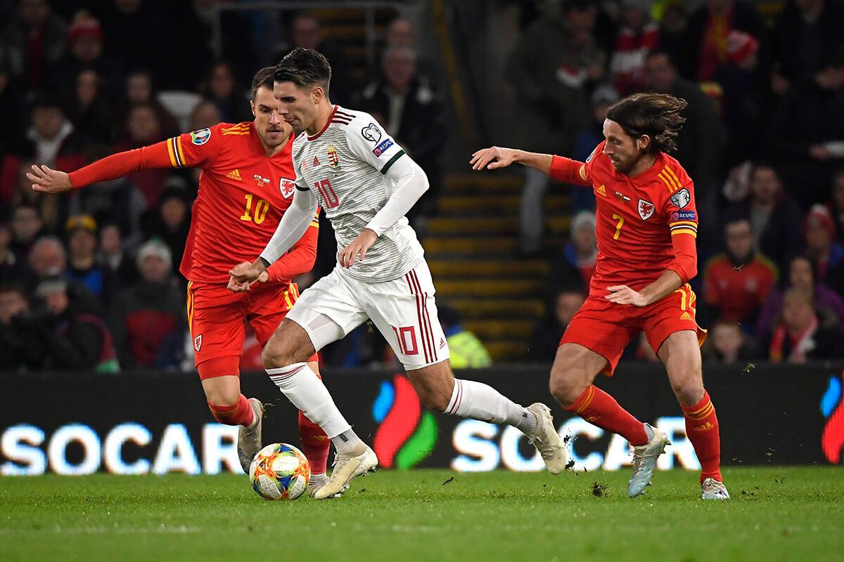 Labdarúgó Eb-selejtező: Wales-Magyarország 2-0