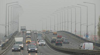 környezetvédelmi, közúti, köd, közlekedés, időjárás