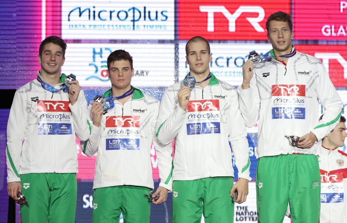 Ezüstérmes lett a férfi vegyesváltó a rövidpályás úszó-Eb-n