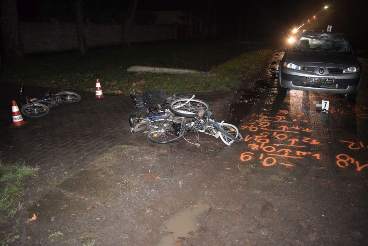 Ittas állapotban vezetett, elütött három kerékpárost