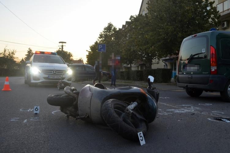 Súlyosan megsérült egy motoros Békésen