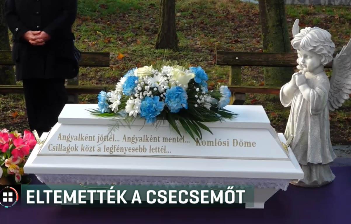 Eltemették a holtan talált csecsemőt Tótkomlóson