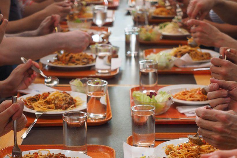 szünetben, menza, ebéd, étel