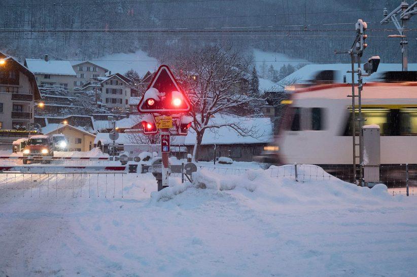 tél, hó, közlekedés, vonat, vasút