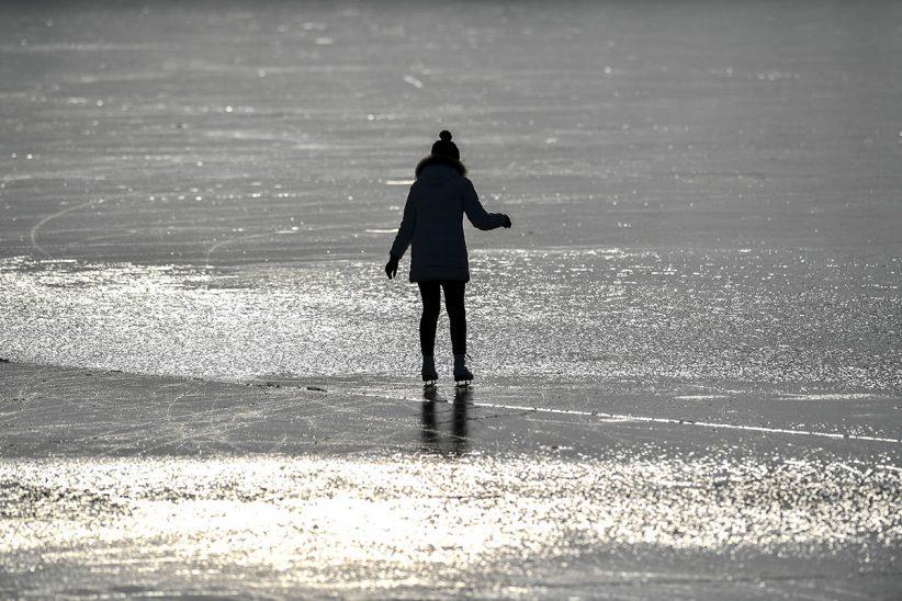 jég, tél, befagyott tó