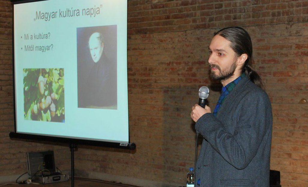 A kultúra, a magyar kultúra témájában tartott előadást Nagy-Laczkó Balázs régész