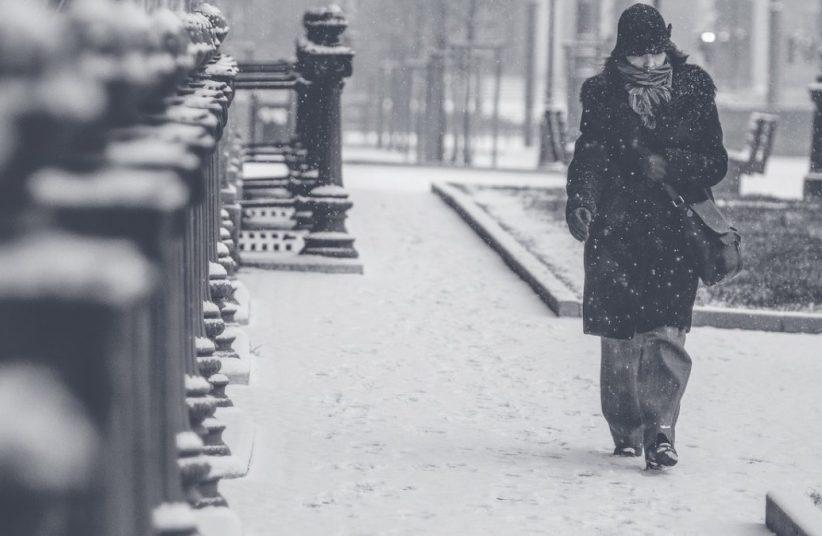 téli, depresszió, szürke, hideg
