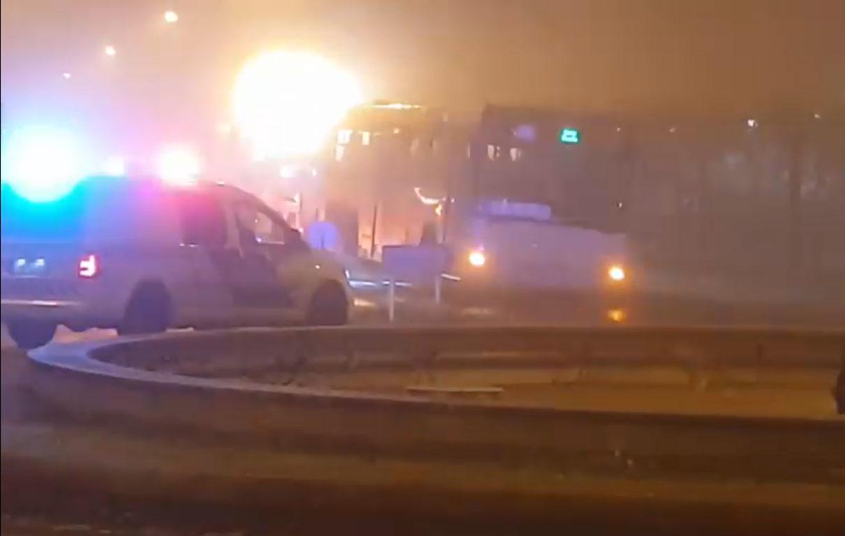 Menet közben kiesett egy gyulai busz kereke