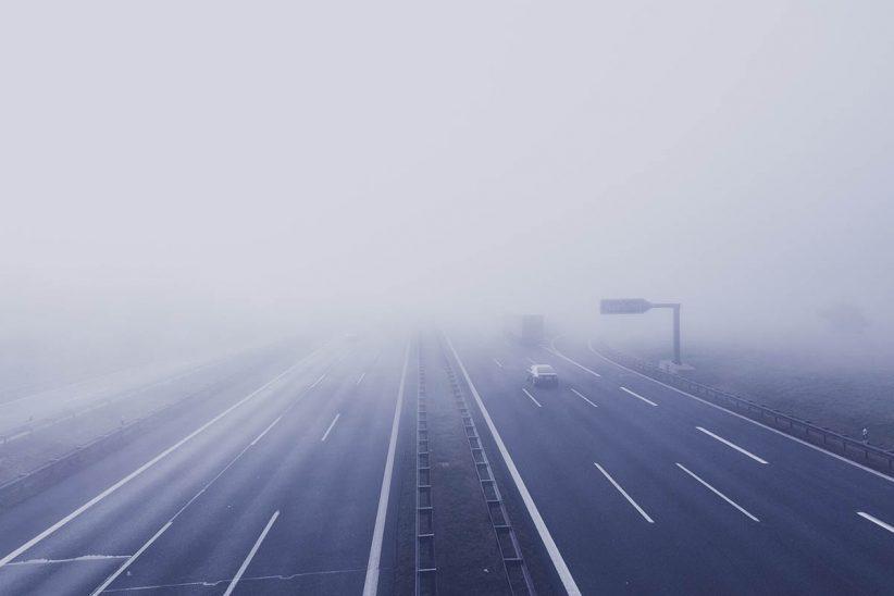 baleset, ködös, köd, időjárás, közlekedés, tél