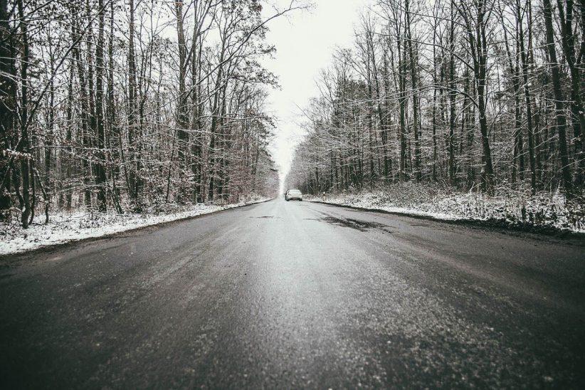 másodfokú, téli, csúszós út, ónos eső, közlekedés