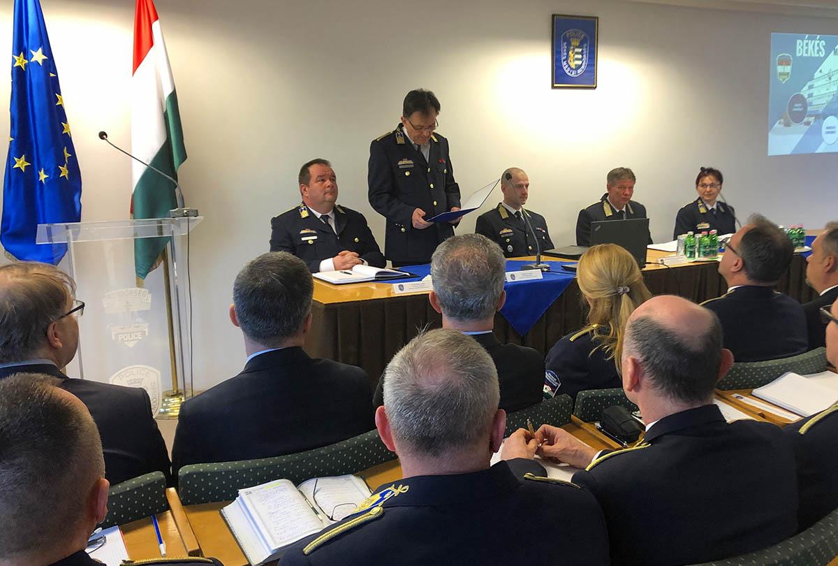 Évértékelő értekezletet tartott a Békés Megyei Rendőr-főkapitányság