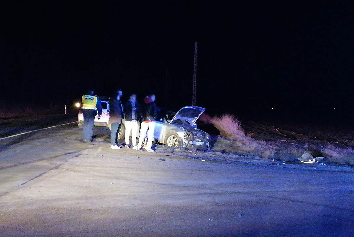 Összeütközött két autó Békéscsaba és Csanádapáca között