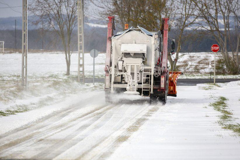 tél, havazás, havas út
