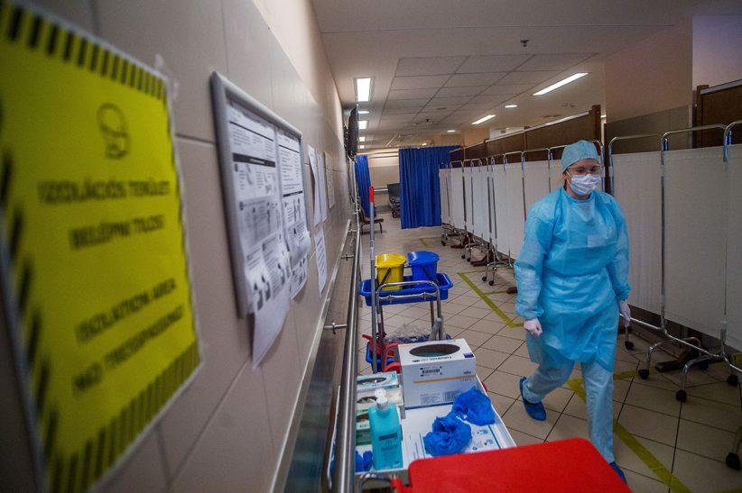 fertőzöttek, vírus, rendkívüli, kórház