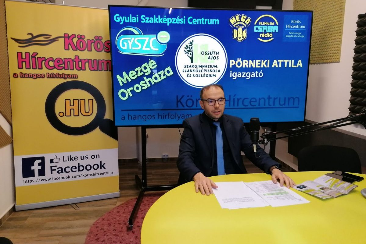 Pörneki Attila lett az orosházi Kossuth-tagiskola új igazgatója