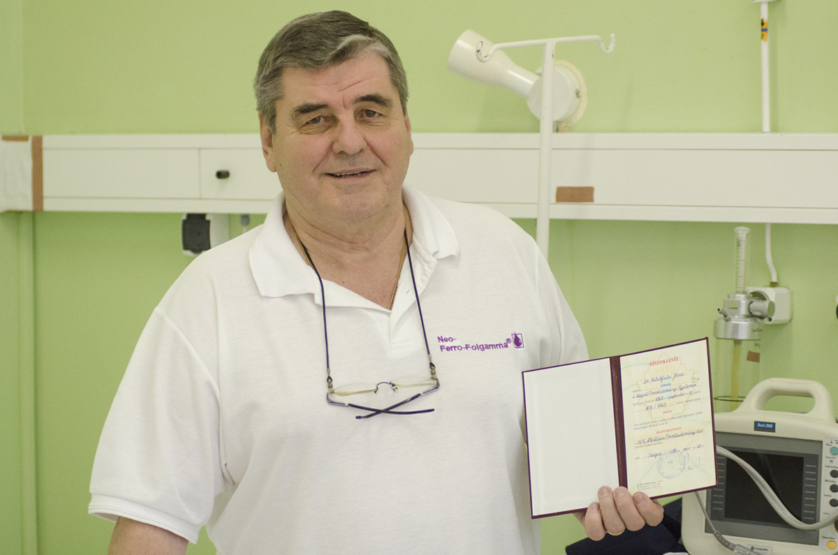 Dr. Patakfalvi János: az arany diploma nem érdem, ezt meg kell élni