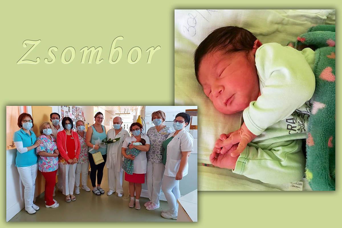 Megszületett Zsombor, a 100. baba Orosházán 2020-ban
